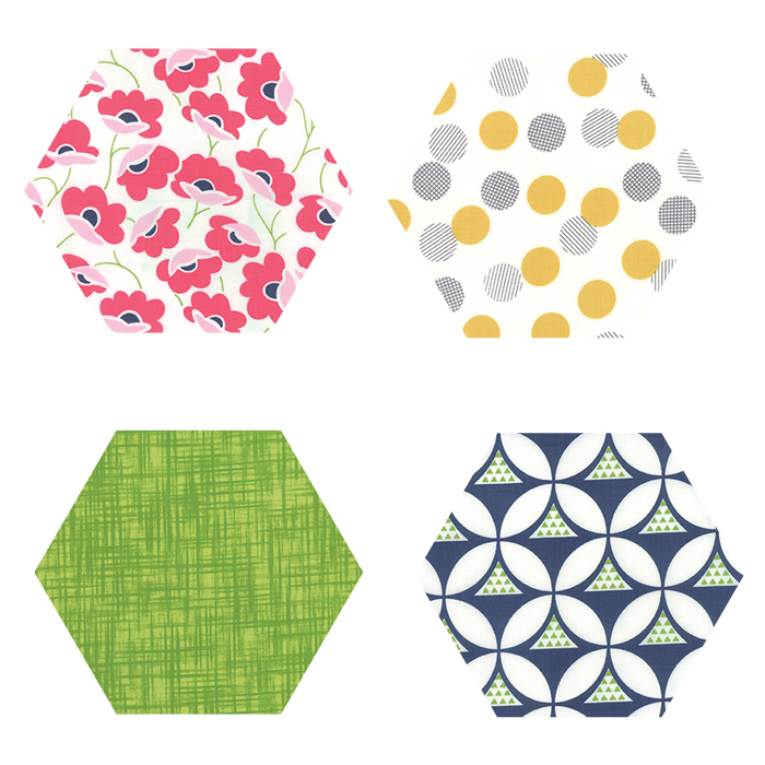 Fabric Hexagons - Color Theory