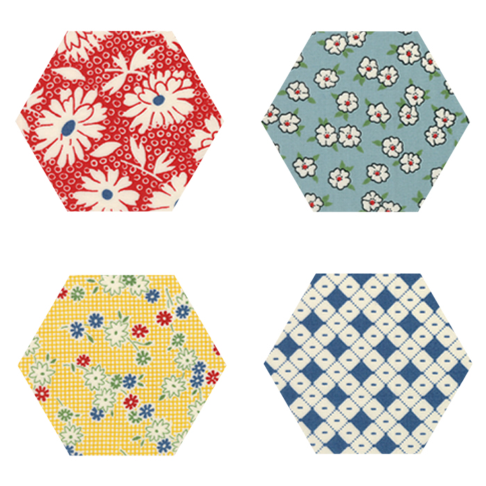 Fabric Hexagons - Hop Skip and a Jump