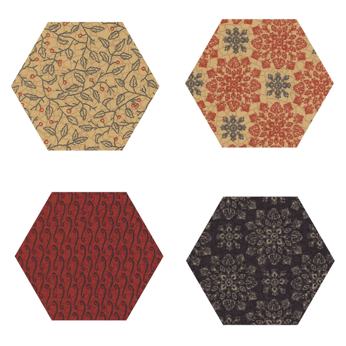 Fabric Hexagons - Count Your Blessings