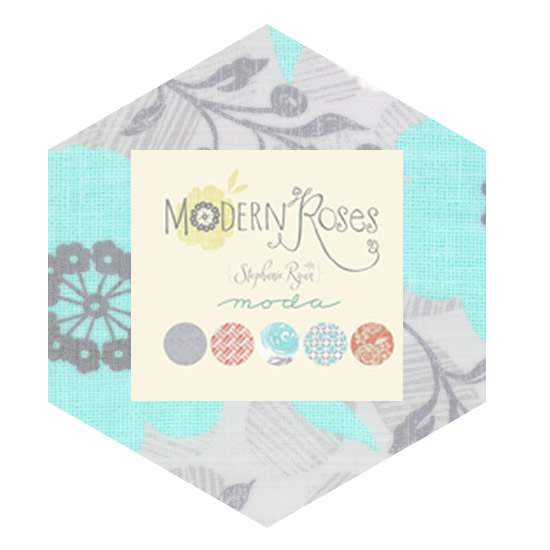 Hexagon Charm Pack - Modern Roses