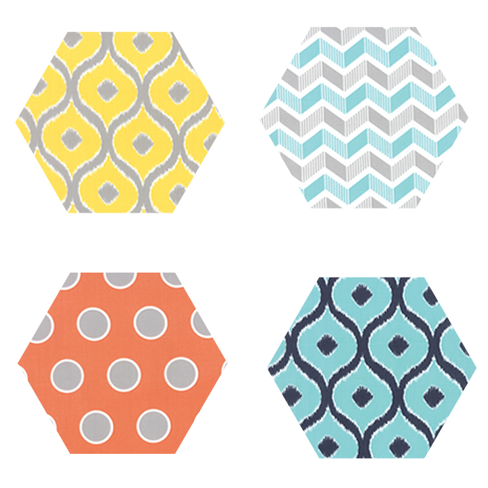 Fabric Hexagons - Mixologie