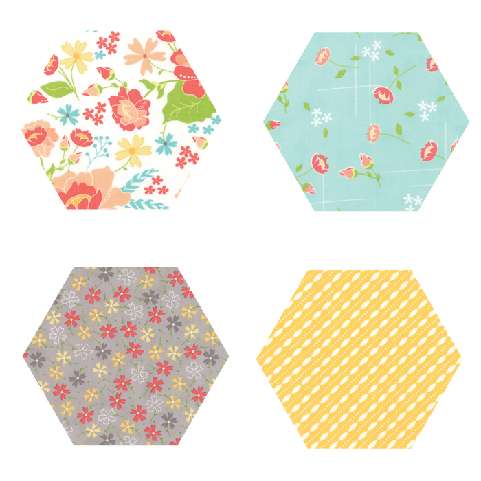 Fabric Hexagons - Lulu Lane
