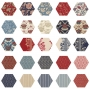 Fabric Hexagons - Vive La France