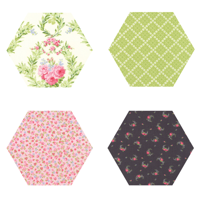Fabric Hexagons - Guernsey