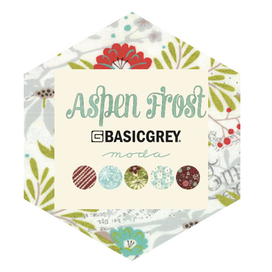 Hexagon Charm Pack - Aspen Frost