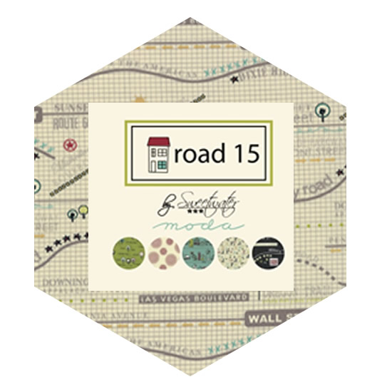 Hexagon Charm Pack - Road 15