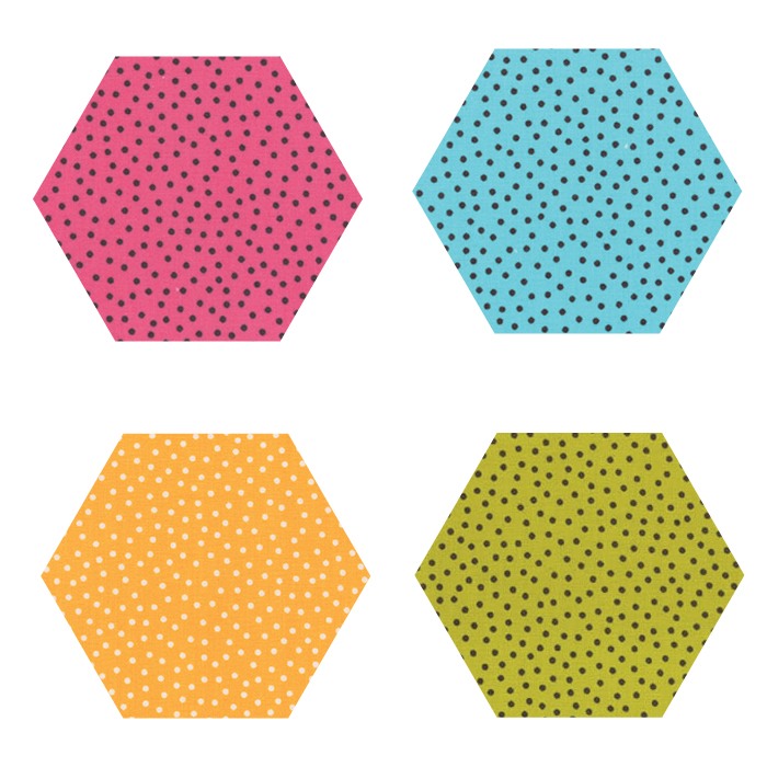 Fabric Hexagons - Just A Speck