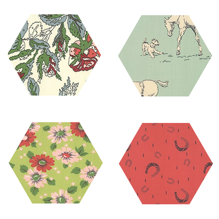 Fabric Hexagons - Purebred