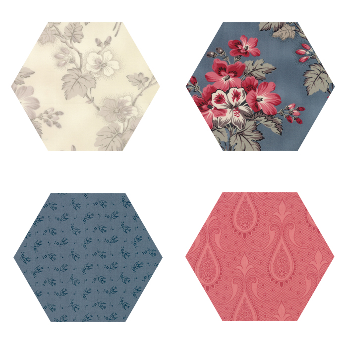 Fabric Hexagons - Sweet Blend
