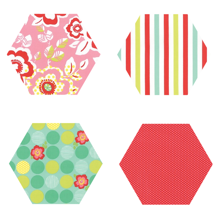 Fabric Hexagons - Moxi