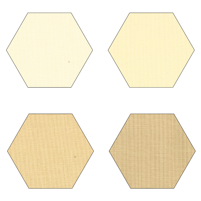 Fabric Hexagons - Small - Neutrals
