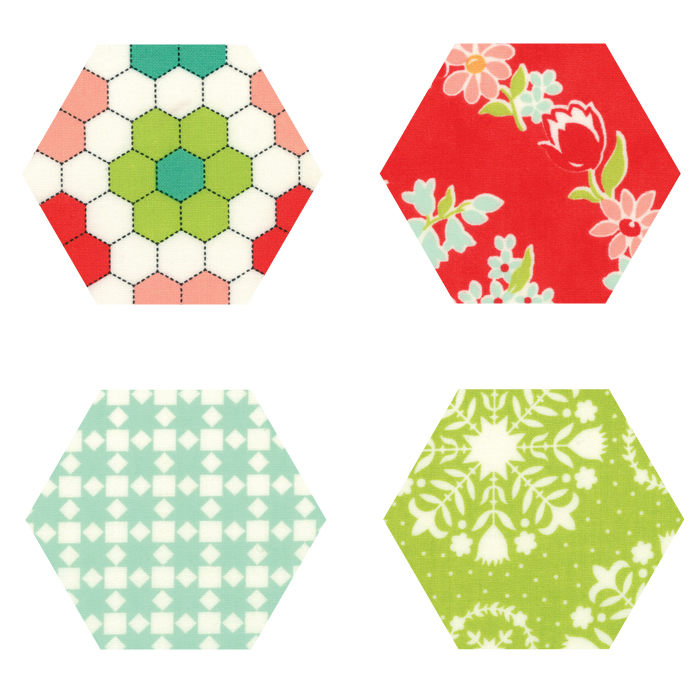 Fabric Hexagons - Handmade