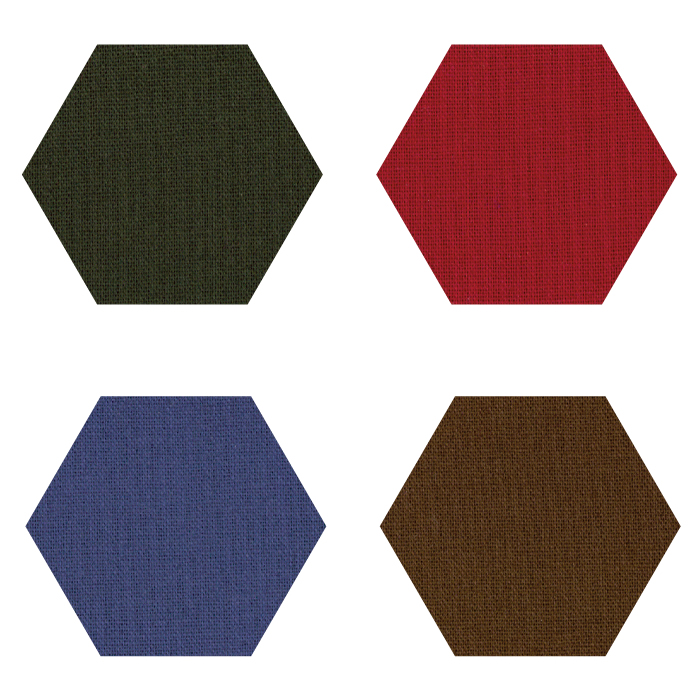 Fabric Hexagons - Small - Darks