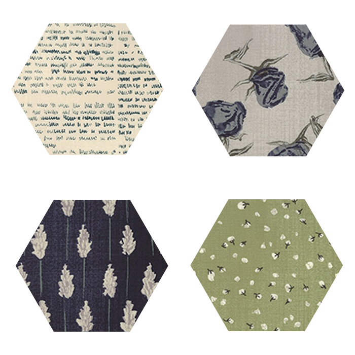 Fabric Hexagons - The Wordsmith