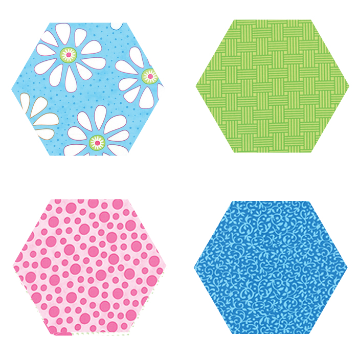 Fabric Hexagons - Bandana